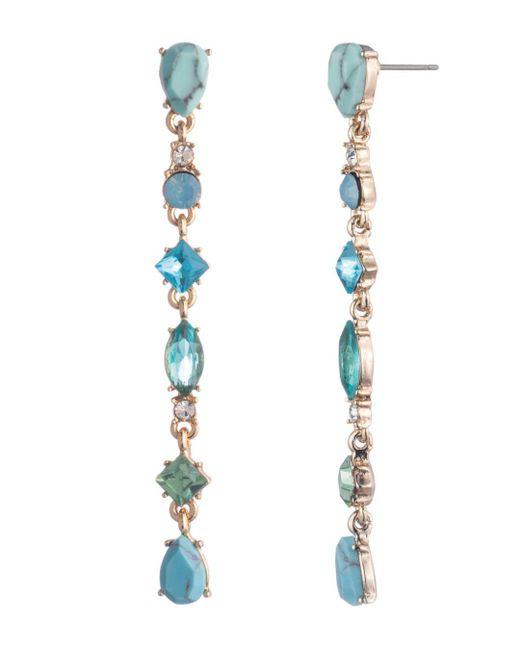 Carolee - Multicolor Stone Linear Earrings - Lyst