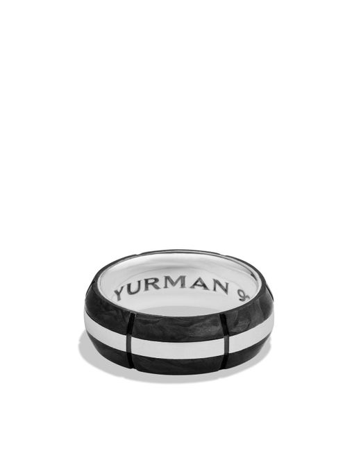 David Yurman - Metallic Forged Carbon Band Ring for Men - Lyst