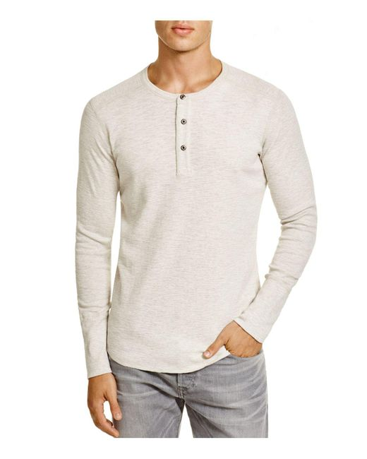 Wings + Horns | Gray Wings + Horns Slub Cotton Henley for Men | Lyst