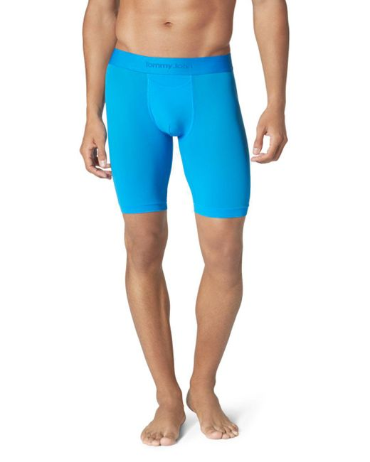 Tommy John - Blue Air Stretch Mesh Boxer Briefs for Men - Lyst