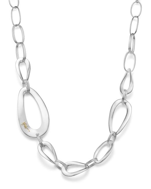 Ippolita Metallic Sterling Silver Cherish Large Link Collar Necklace