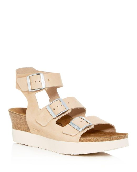 d7b718e7939a Lyst - Birkenstock Women s Linnea Papillio Platform Wedge Sandals in ...
