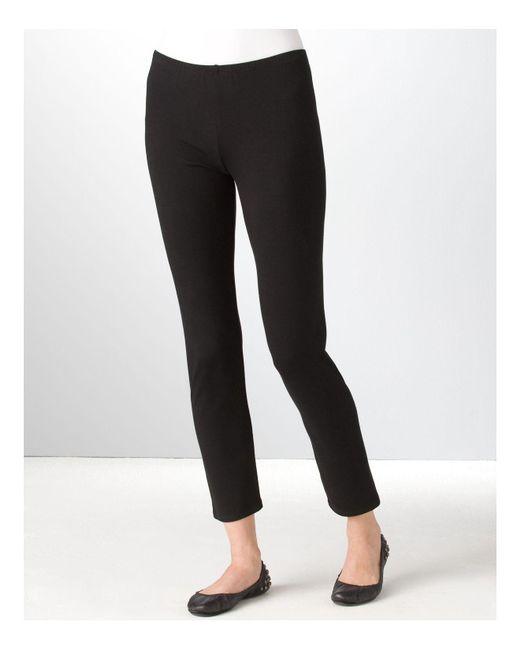 Eileen Fisher   Black ' Stretch Organic Cotton Leggings   Lyst