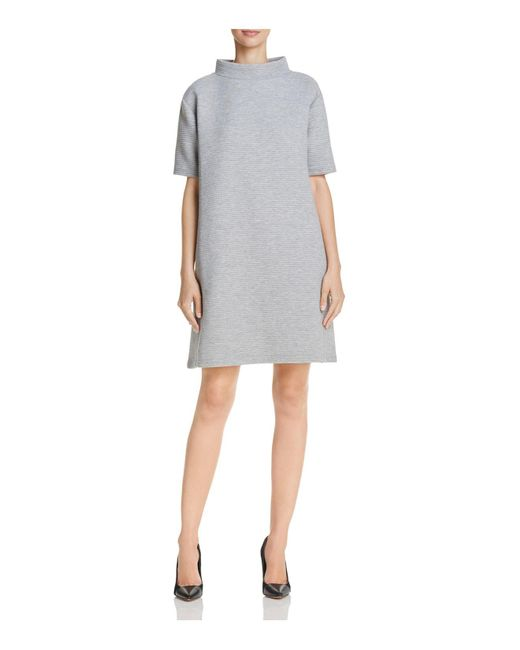 French Connection | Gray Marian Ottoman Dress | Lyst