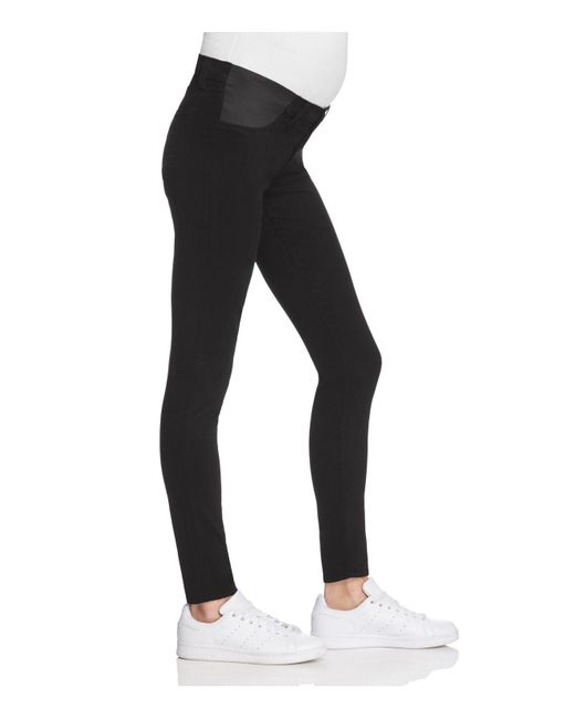 Black super skinny maternity jeans