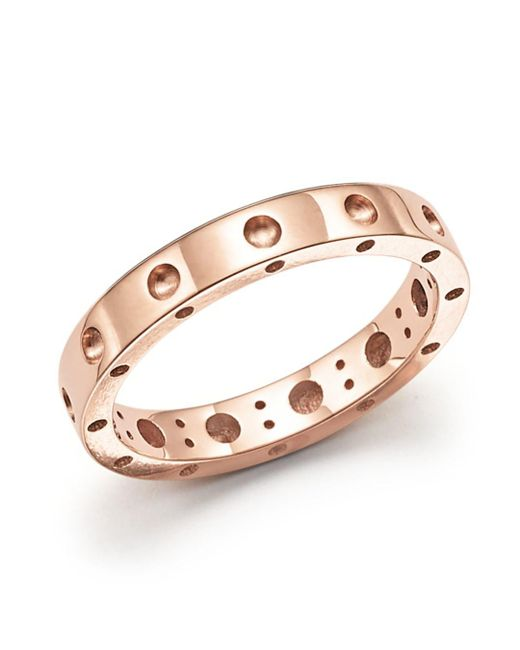 Roberto Coin - Metallic 18k Rose Gold Symphony Dotted Ring - Lyst