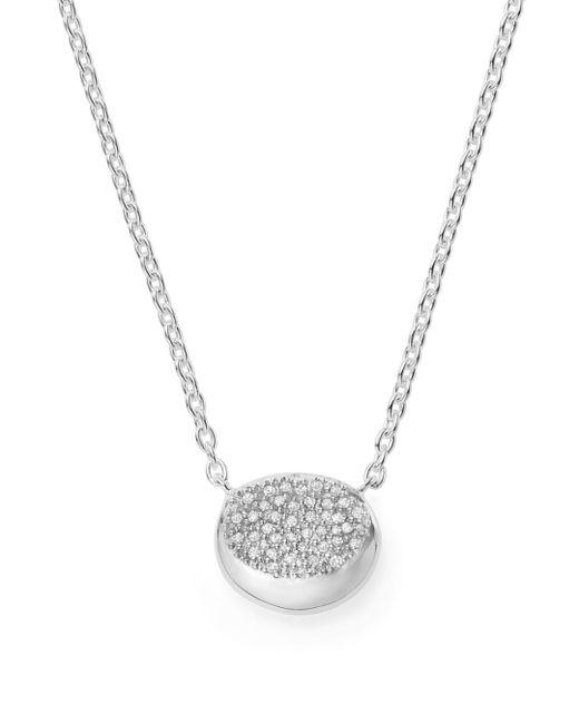 Ippolita - Metallic Onda Diamond & Sterling Silver Pendant Necklace - Silver - Lyst