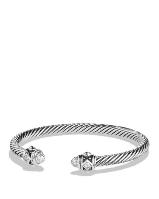 David Yurman - White Renaissance Bracelet With Diamonds - Lyst