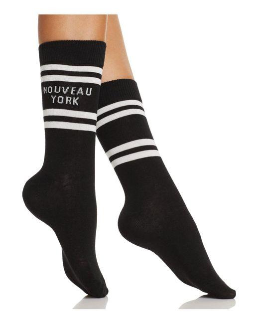 Kate Spade | Black Nouveau York Crew Socks | Lyst