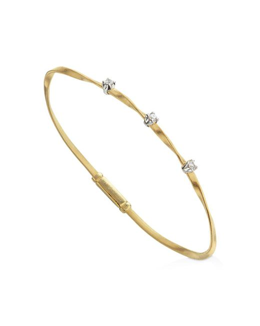 Marco Bicego - Metallic Marrakech Bracelet In 18k Yellow Gold With Diamonds - Lyst