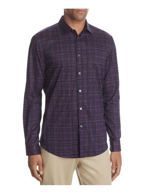 John Varvatos - Purple Classic Fit Pick Stitch Button-down Shirt for Men - Lyst
