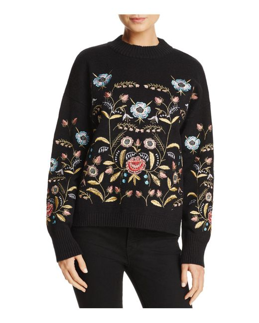 Lucy Paris | Black Embroidered Sweater | Lyst