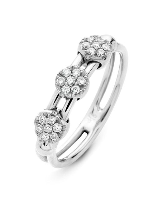 Hulchi Belluni - 18k White Gold Tresore Diamond Ring - Lyst