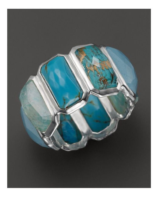 Ippolita - Sterling Silver Rock Candy Brick Ring In Blue Multi - Lyst