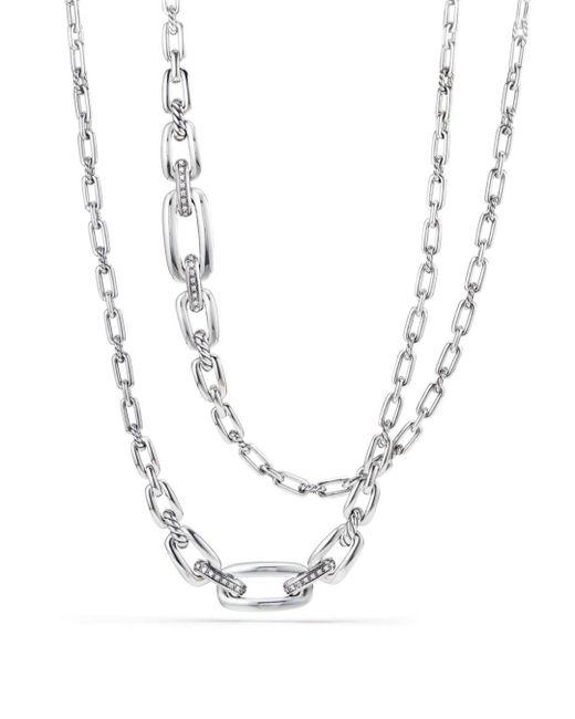 David Yurman - Metallic Wellesley Chain Link Necklace With Diamonds - Lyst