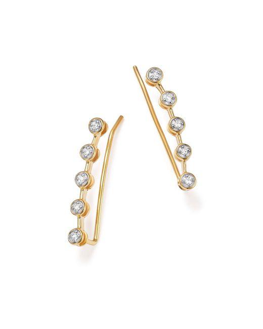 Adina Reyter | Metallic 14k Yellow Gold Five Diamond Ear Climbers | Lyst