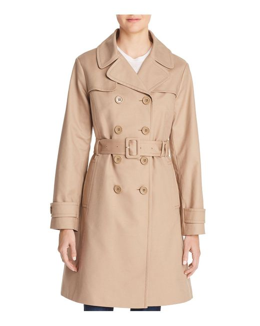 Kate Spade - Natural Double-breasted Bow Back Trench Coat - Lyst
