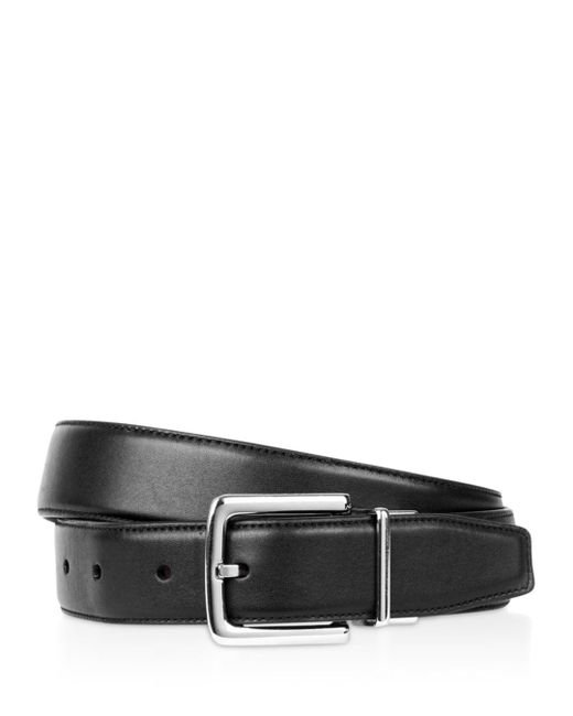 Cole Haan - Brown Matte Leather Reversible Belt for Men - Lyst