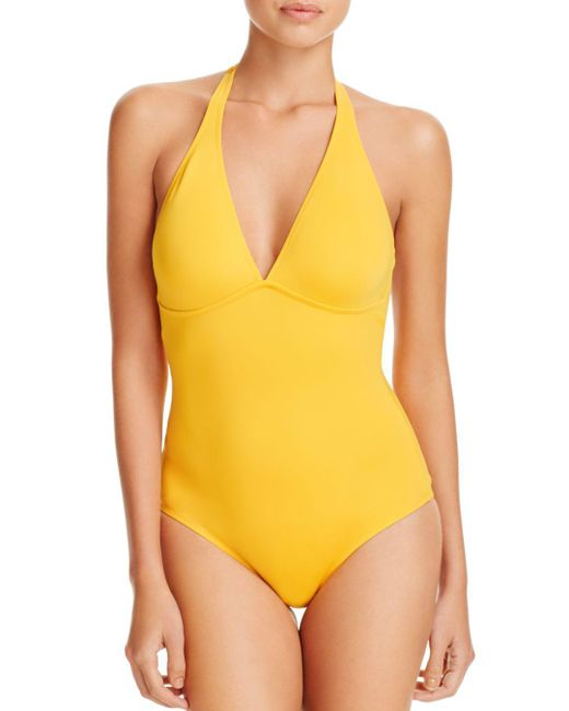 Vilebrequin - Yellow Solid Water One Piece Swimsuit - Lyst