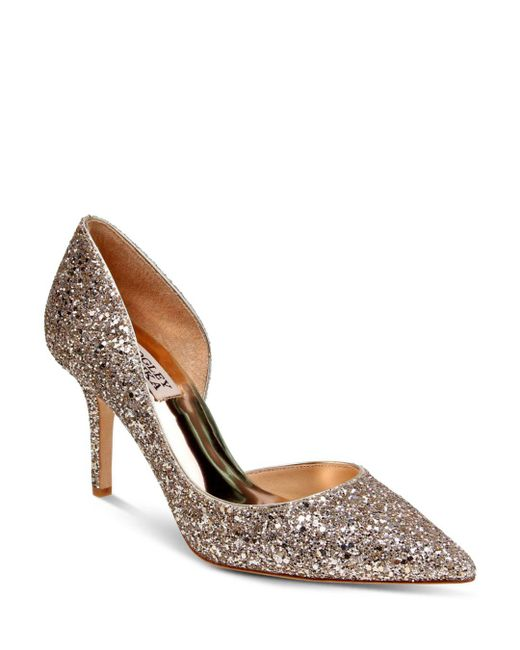 Badgley Mischka - Multicolor Daisy Glitter Half D'orsay Pointed Toe Pumps - Lyst