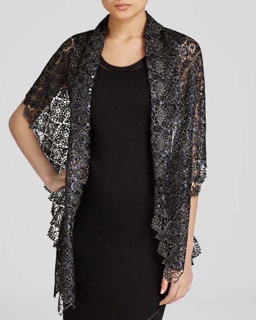 Aqua - Black Clover Lace Scarf - Lyst