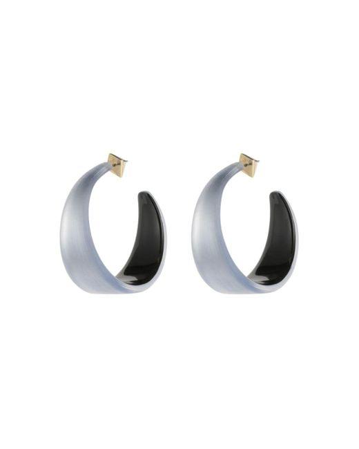 Alexis Bittar - Gray Lucite Hoop Earrings - Lyst