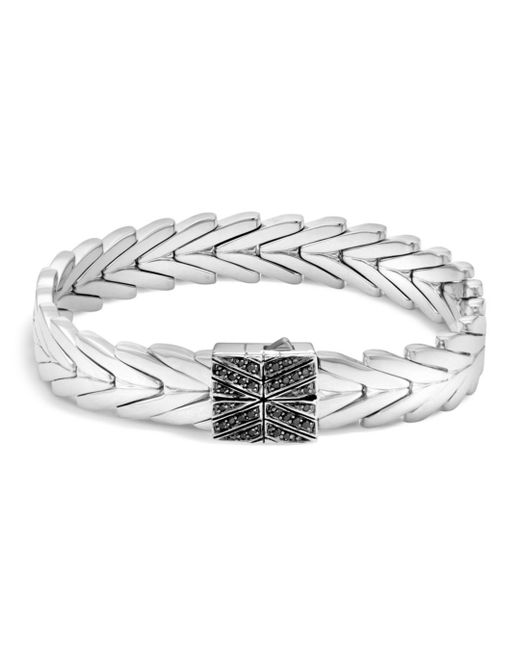 John Hardy - Metallic Sterling Silver Modern Chain Bracelet With Black Sapphire And Black Spinel - Lyst