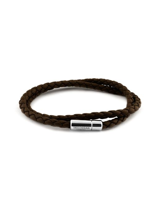 Tateossian | Brown Leather Bracelet for Men | Lyst