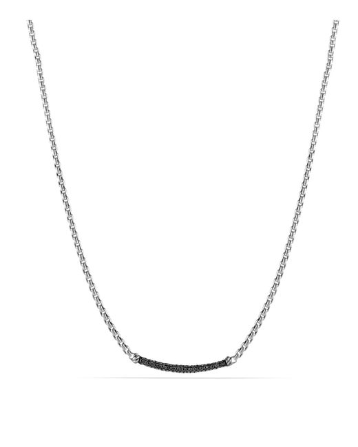 David Yurman | Metallic Petite Pavé Chain Necklace With Black Diamonds | Lyst