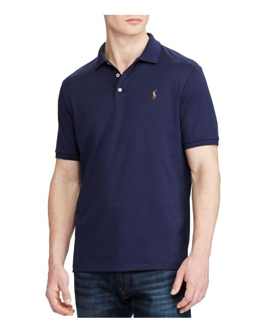 Polo Ralph Lauren | Blue Classic Fit Soft Touch Polo Shirt for Men | Lyst