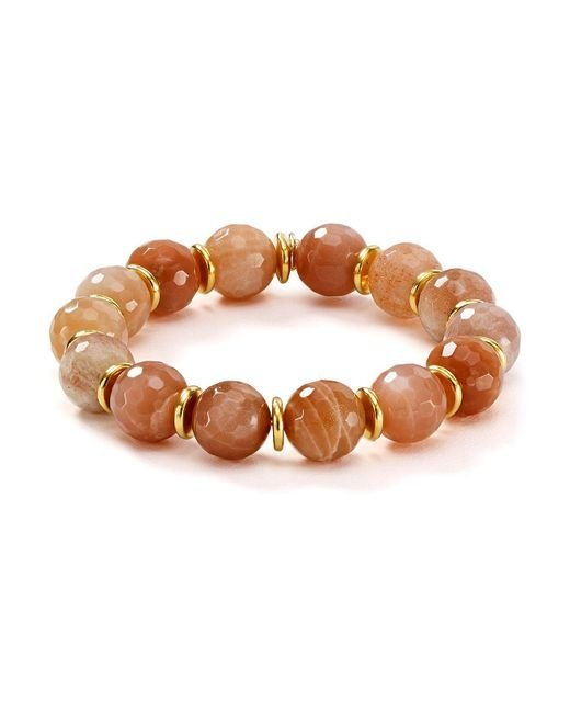 Bourbon and Boweties | Brown Stretch Bracelet | Lyst