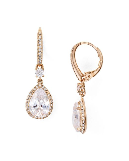 Nadri | Metallic Miss Pear Drop Earrings | Lyst