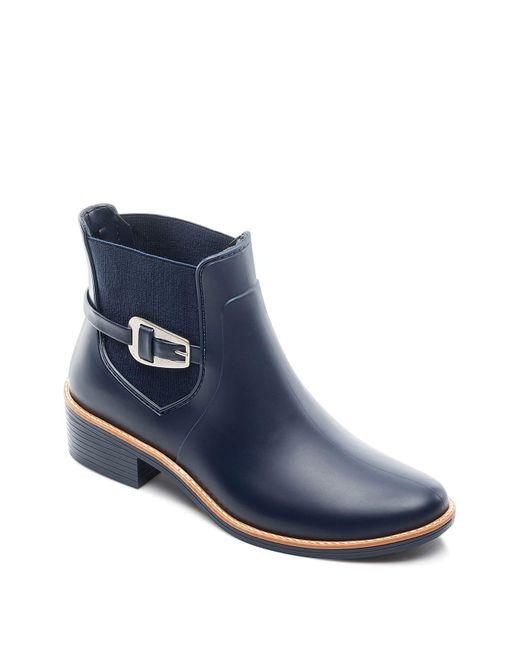 Bernardo | Blue Pansie Ankle Strap Rainboots | Lyst