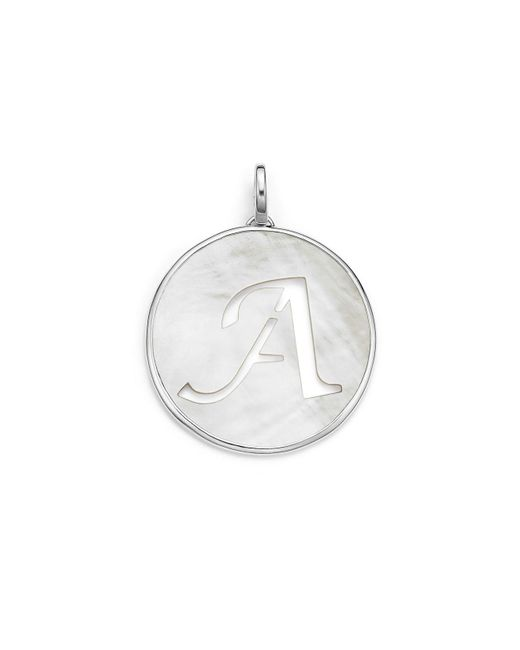 Ippolita | Metallic Sterling Silver Large Initial Charm In Mother-of-pearl | Lyst