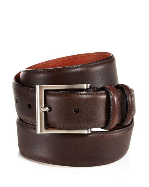 Trafalgar - Brown Corvino Double-keeper Leather Belt for Men - Lyst