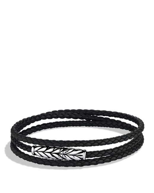 David Yurman - Metallic Chevron Triple-wrap Bracelet In Black for Men - Lyst