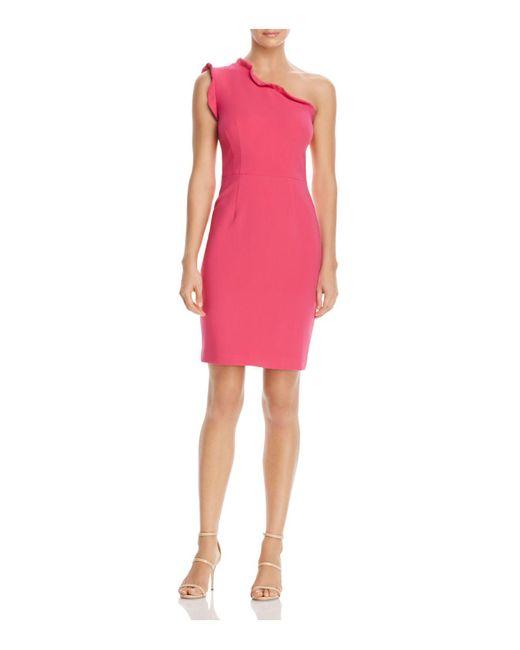 Black Halo | Pink Pravella One-shoulder Dress | Lyst