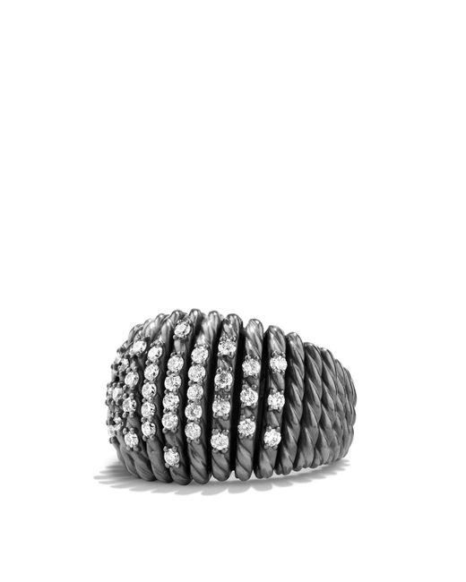 David Yurman - Metallic Tempo Ring With Diamonds - Lyst