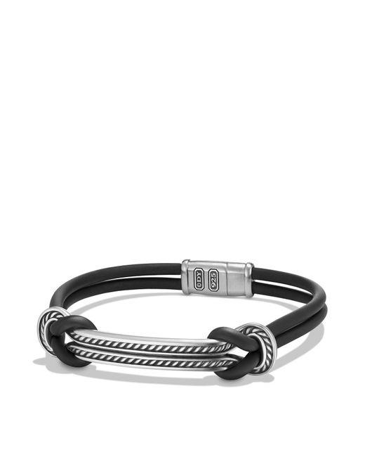 David Yurman - Maritime Rubber Id Bracelet In Black for Men - Lyst