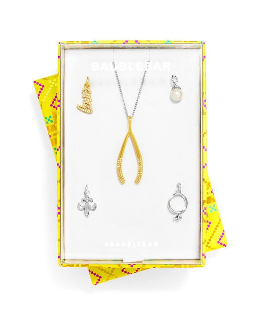 """BaubleBar   Metallic Love You Forever Charms, Set Of 5 & Necklace, 26""""   Lyst"""