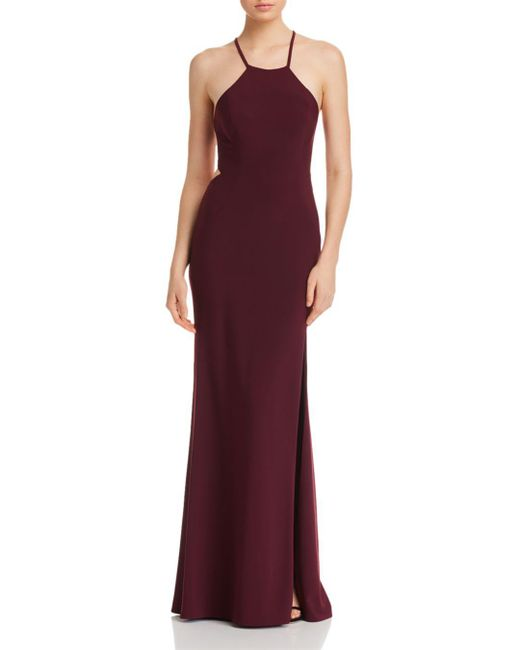 Betsy & Adam - Purple Strappy-back Gown - Lyst