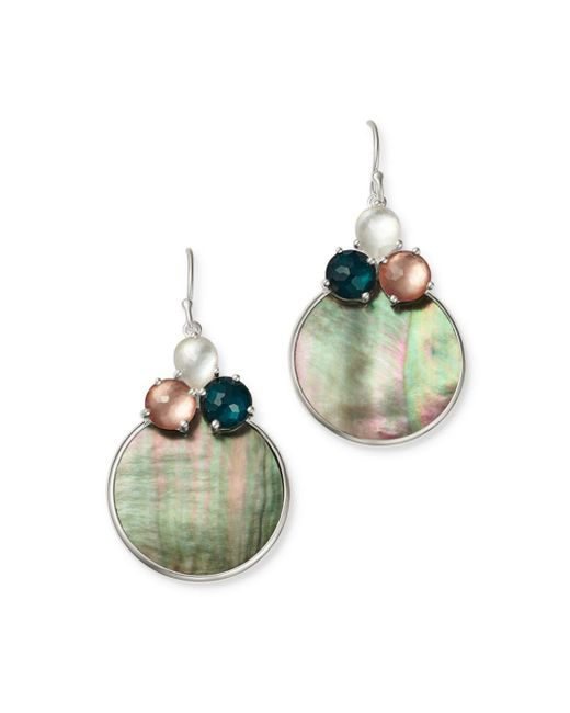 Ippolita - Multicolor Clear Quartz & Shell Drop Earrings - Lyst