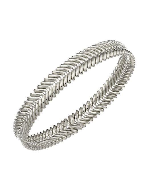 Chimento | Metallic 18k White Gold Armillas Collection Ridge Waves Bracelet | Lyst