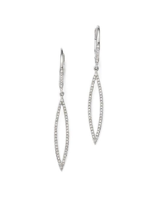KC Designs - 14k White Gold Open Geometric Pod Diamond Dangle Earrings - Lyst