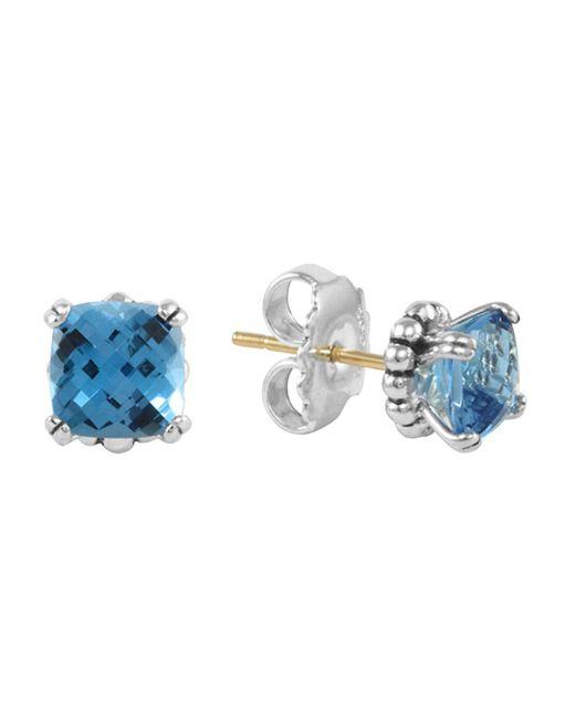 Lagos - Sterling Silver Prism Blue Topaz Stud Earrings - Lyst