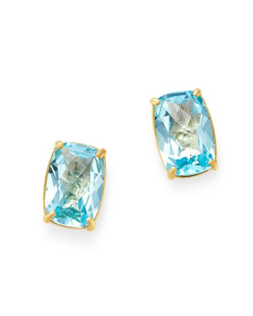 Bloomingdale S Sky Blue Topaz Stud Earrings In 14k Yellow Gold