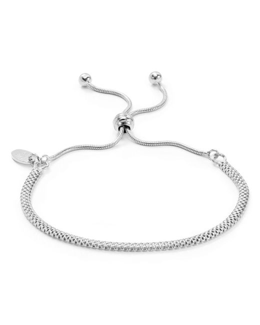 Argento Vivo - Metallic Mesh Chain Adjustable Bracelet - Lyst