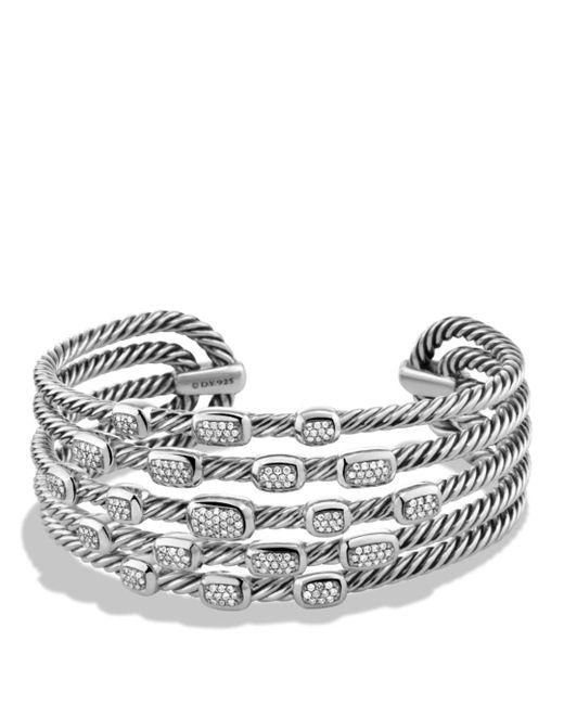 David Yurman - Metallic Confetti Wide Cuff Bracelet With Diamonds - Lyst