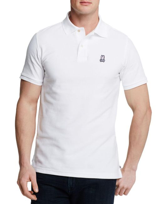 Psycho Bunny - White Classic Polo - Regular Fit for Men - Lyst