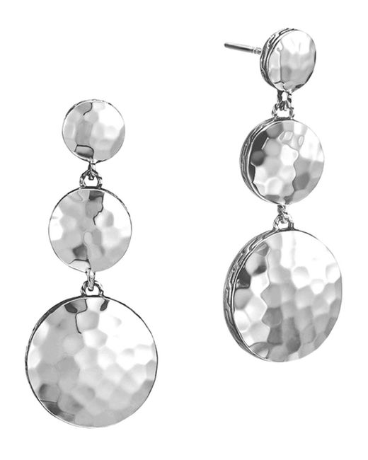 John Hardy - Metallic Palu Sterling Silver Triple Drop Linear Earrings - Lyst